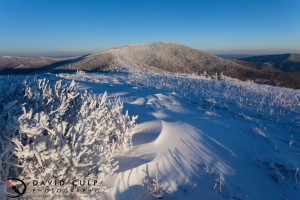 A cold winter blast at Roan High Knob on the Tennessee/North Carolina boarder. Canon 5D Mk II, 17 - 40L at 20mm, f22, ISO 800.